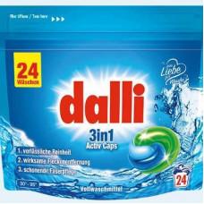 DALLI 3in1 ACTIV CAPS  mazgāšanas kapsulas baltai veļai  24MR. (0,636kg)